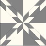 Fyra block sammansatta och mönstret framträder