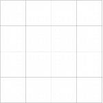 Börja med att dela kvadraten i fyra delar. 2/4 bildar mittrutan.
