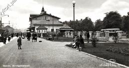 1940-talet framför busstationen