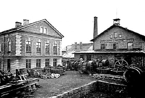 Lastkajen för transport på järnväg med lastfickan. (Västergötlands Museum)