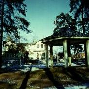 Färgbild med paviljongen