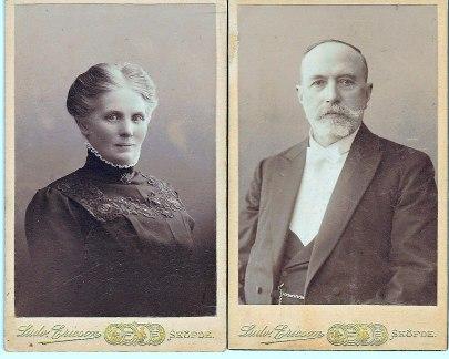 Anna och Carl August Johanson på lite äldre dagar Foto Ludvig Ericson. Bilder från sonsonen Rolf Manne