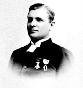 PROSTEN HEMBERG, FOTO ERIKSÉN, den 20 maj 1896. Han här 46 år. Västergötlands Museum - bildarkivet/bildnummer: A71670