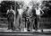 Banarbetare, banvakten vid Stenberget, Gustav Karlsson, Kleven und. Grufvesäter, Herbert karlsson, Broro Ullberg, Einar Bäckström, Klven under Löten, Axvalalsjärnvägen i Skövde 40-talet av Erland Ullb