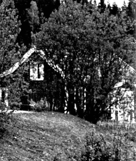 Stenberget Våmb 7:7 Delförstoring från foto av banvaktsstugan. Stig Nybergs samlingar. Ägare Kent Friman.