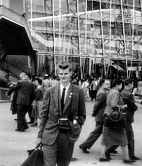 Ung blivande fotograf - Claes Funck 1958 vid Världsutställningen i Brussel