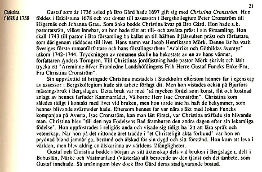 """Sida ur """"Ätteboken"""" av Erik Funck med hjälp av sonen Claes Funck och Carina Olsson i Upplands Väsby färdig 1993. Claes Funck copyright"""
