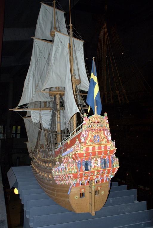 Modell av Regalskeppet Vasa. Foto Claes Funck, copyright med publiceringstillstånd från Vasamuseet 2013-12-03