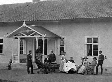 Hene gård 1890-tal. Fotograf P. A. Eriksén. Bild Västergötlands Museum - bildarkivet/bildnummer: A60865:B