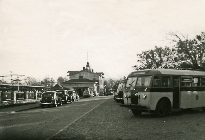 Skövde busstation 1940-talet.