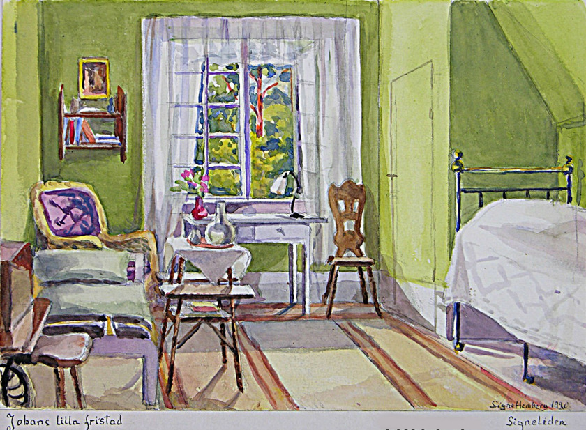 Johans rum = Prosten Johan Hembergs enskilda sovutrymme på Signeliden.