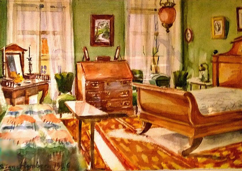 Signe Hembergs sovrum i Prostgården