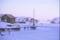 Dia Lilla hamnen mot bukt vinter 1970