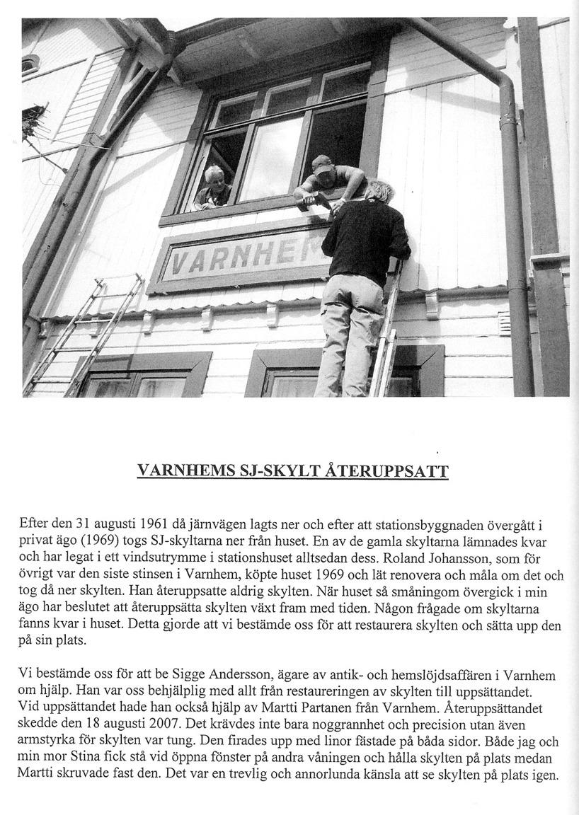 Sida från Varnhemsbygden 2008, artikel Eva Bozovic