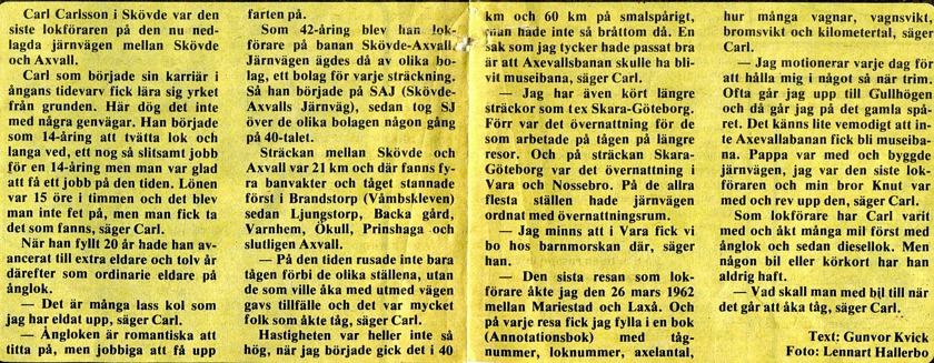 Tidningsurklipp från Gunborg Ferms samling, Ljungstorp, 2014 Klicka på bilden för att läsa texten!