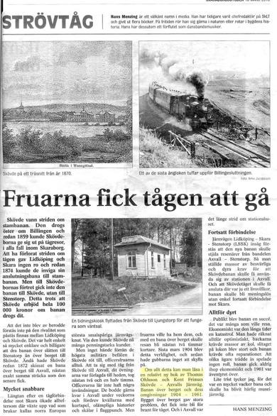 Tidningsartikel 18 mars 2016 i Skaraborgsbygden