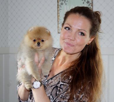 Johanna Toftby med Lucy 9 veckor