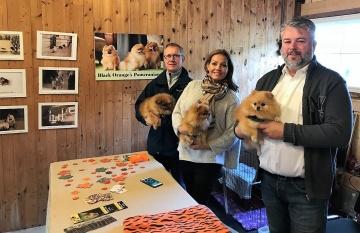 Håkan, Johanna Toftby och Johan Palm på Skördefesten 2017