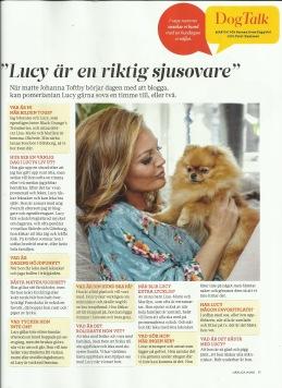 Artikel i SSveriges största hundtidning Härliga Hund nr 7 år 2019