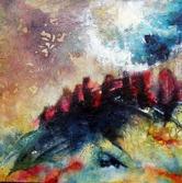 90 cm * 90 cm abstrakt konst cathrine