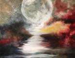 Moon shadow 100 cm * 80 cm  art konst oljemålning  cathrine