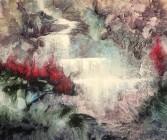 abstrakt konst - shape of water 100 cm * 80 cm