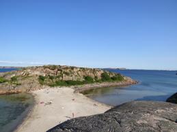 """Stranden """"Pärlane"""" på Bohus-Malmön. En av Sveriges tio vackraste stränder."""