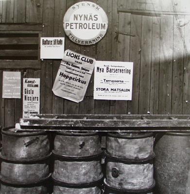Reklamskyltar år 1958.