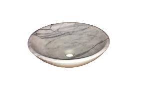 Badrumsvask i Carraramarmor