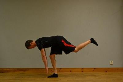 Slutposition i övningen