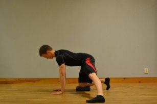 Startpositionen i övningen