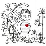 Vilding - Illustration till en utställning till hyllning av Sendak och hans monster, Italien 2013