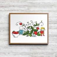 Lille trädgårdsmästaren - Jordgubbsskörd