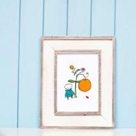 Lille trädgårdsmästaren och apelsinen