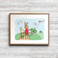 Kaninen och pappan