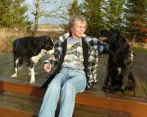 Healer, samtalsterapeut, hundinstruktör Susanne Landegren på Healingstugan i Laholm i södra Halland