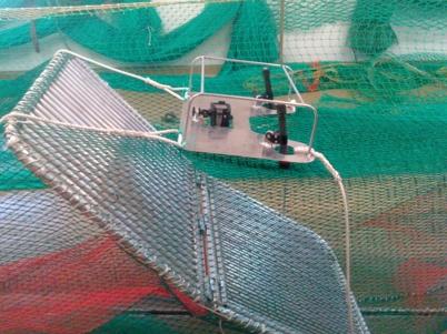 Djuphavskamera monterad på risten för dokumentation av trålning