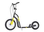Sparkcykel Yedoo City svart/gul
