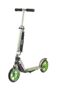 City scooter HUDORA Big Wheel GS 205, svart / grön - GS 205 svart/grön