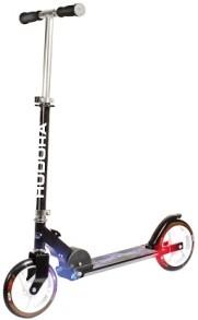 City scooter Hudora L205 - L205 svart m belysning blå/röd
