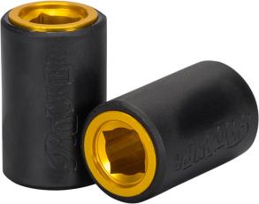 Rocker 12mm Mini BMX Plegs - Svart/Guld