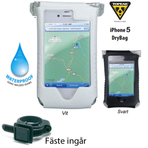 Topeak iPhone 5 DryBag - Svart