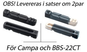 BBB Bromsgummi TechStop Campa./BBB - svart standargummi