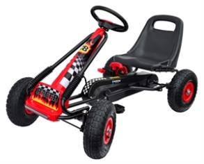 Nordic Hoj Go cart m lufthjul - svart