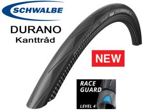 Schwalbe Durano -15 Landsvägsdäck Kanttråd - 23-622 700x23C Svart, RaceGuard-Punkt