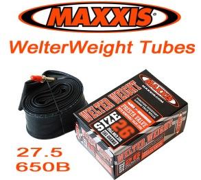 Slang Maxxis Welterweight. 27.5 650B - 27.5 x 1.9/2.35 Racerventil.
