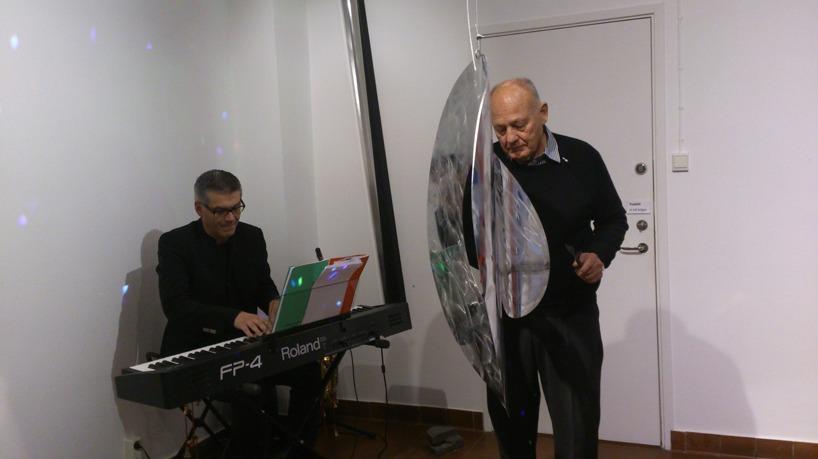 Per Thornberg och Alexius Huber Falsterbo konsthall 2014.