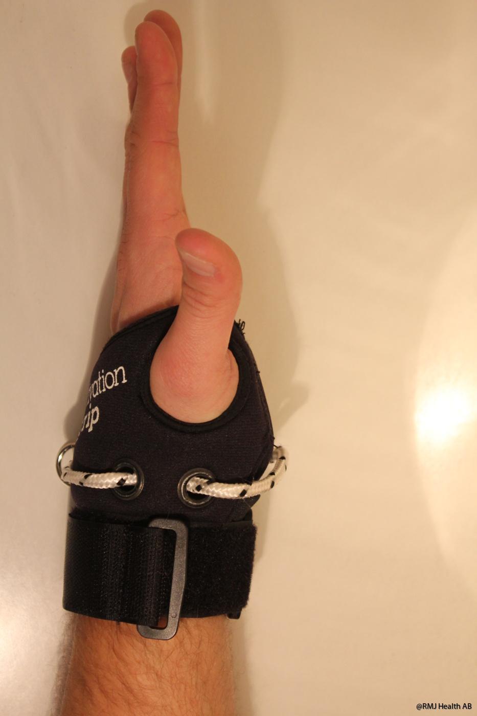 Bekvämt hål för tummen