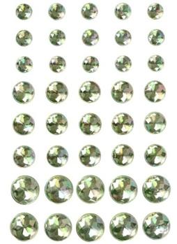 Halvpärlor kristall gröna