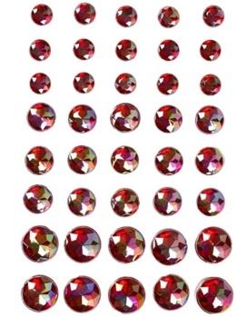 Halvpärlor kristall röda